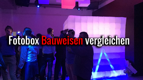 Fotobox Hamburg offen geschlossen Cube halboffen