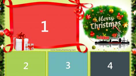 Fotobox Druck Layout zur Weihnachtsfeier in 10x15