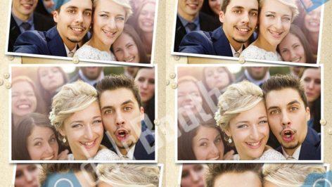 Fotobox Fotostreifen im Hochzeits-Design