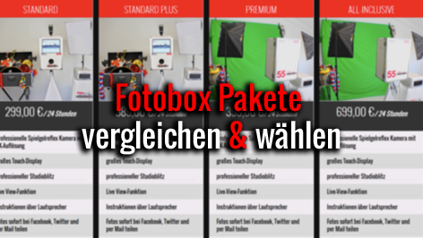Fotobox Hamburg Pakete
