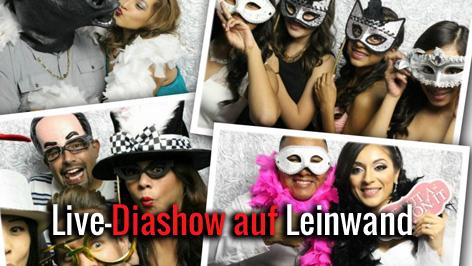 Fotobox mieten Diashow