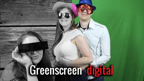 Greenscreen Fotobox mieten digital