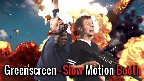 Greenscreen Slow Motion Booth mieten