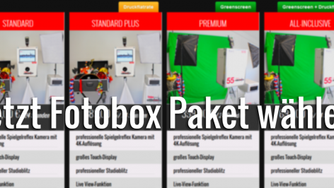 Fotobox Hamburg mieten Paket wählen